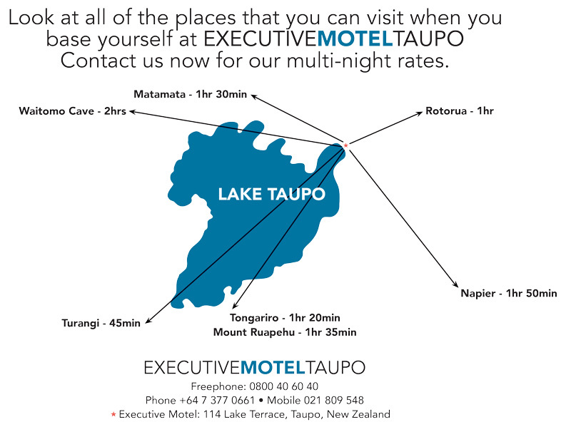 Taupo New Zealand Map.About Taupo Map Executive Motel Taupo